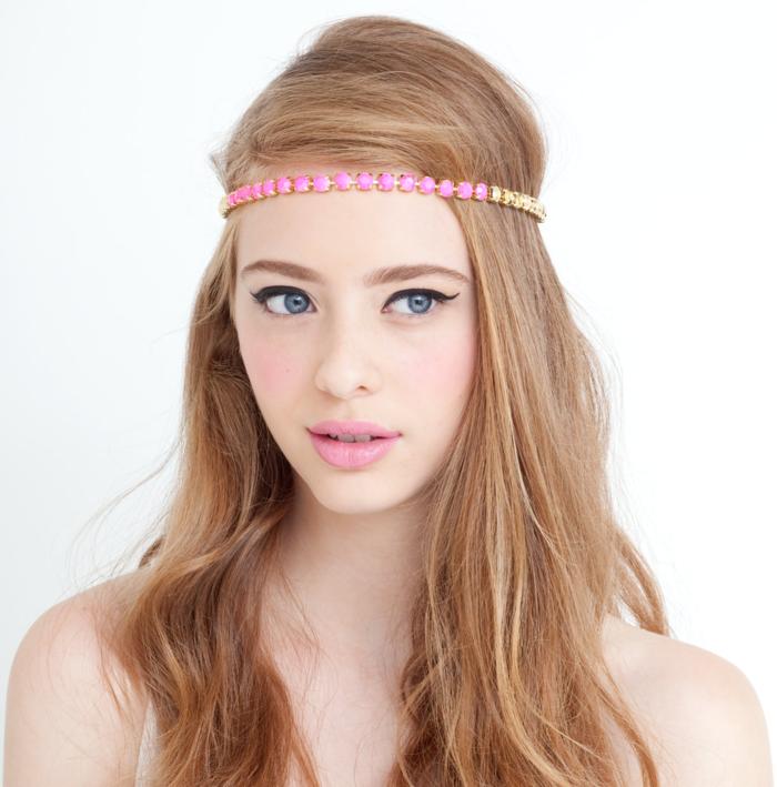 leichte frisuren sommer accessoires langes haar