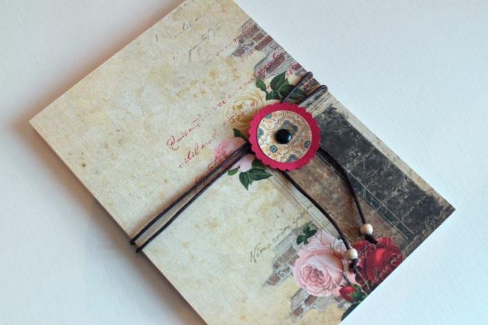 leporello basteln zubehör geschenkideen dekoupage