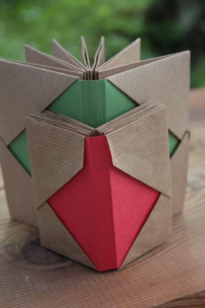 leporello basteln bastelanleitung zubehör geschenkideen nachhaltig