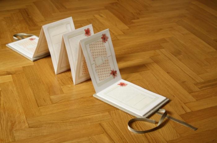 leporello basteln zubehör geschenkideen platzhalter