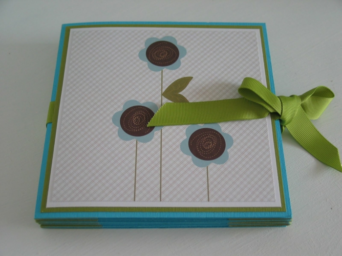 leporello basteln zubehör geschenkideen vorlage baby