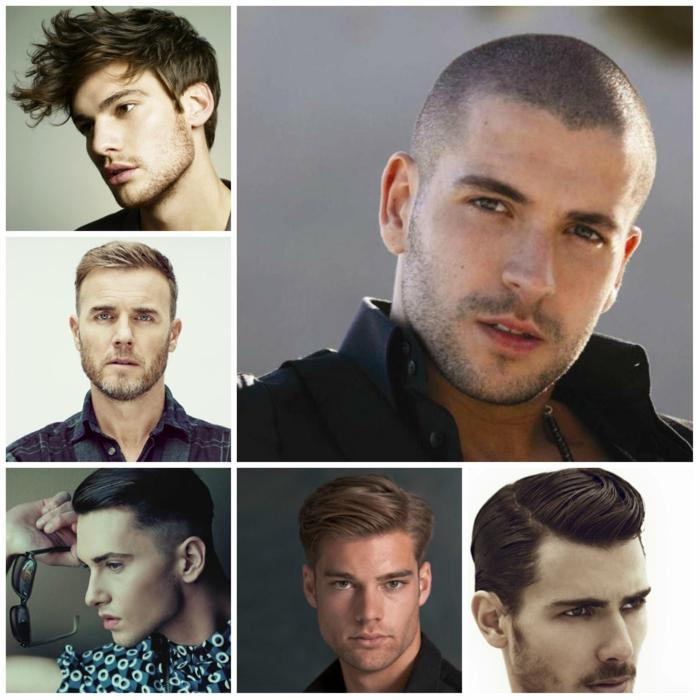 männerfrisuren collage 4
