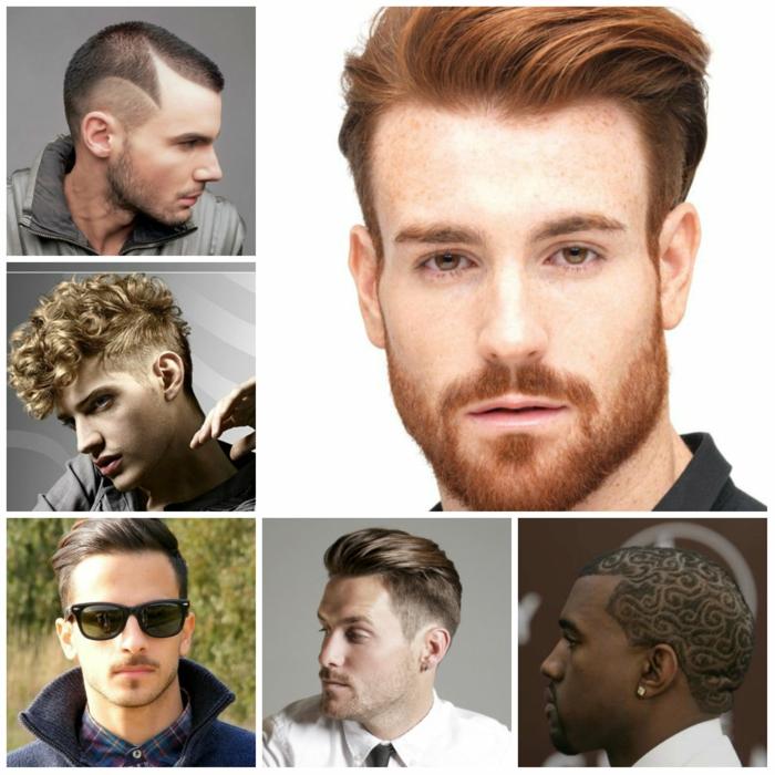 männerfrisuren collage