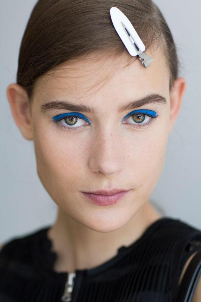 make up tipps frühling sommer 2016 augen trends krasse farbtöne