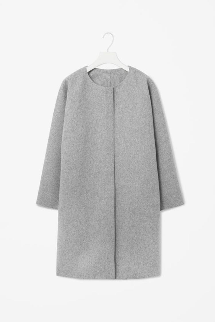 moderne Damenmäntel aktuelle Trendfarben Grau