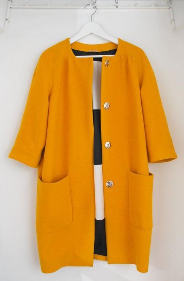 moderne Damenmäntel aktuelle Trendfarben Orange
