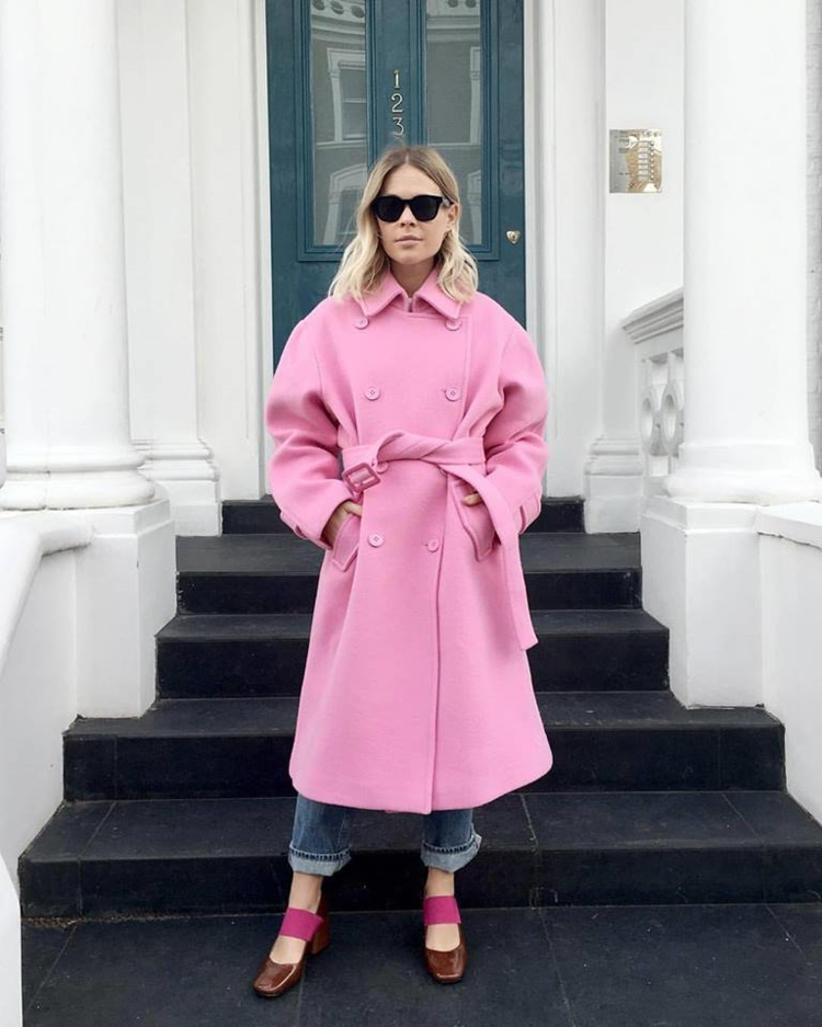 moderne Damenmäntel aktuelle Trendfarben Rosa