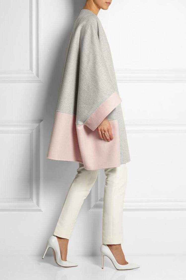 moderne Damenmäntel aktuelle Trendfarben grau rosa
