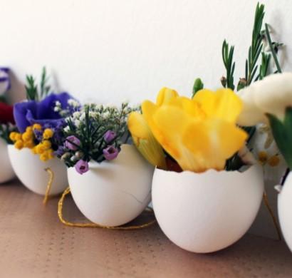 Deko selber machen - 50 Osterdeko Ideen mit Ostereiern und feinen ...