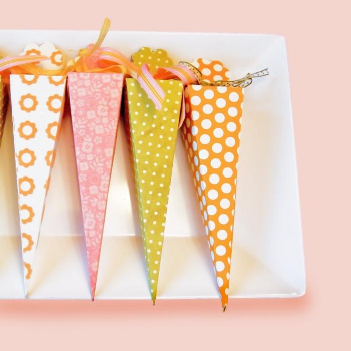 bastelideen ostern möhren zuckertüte papier diy