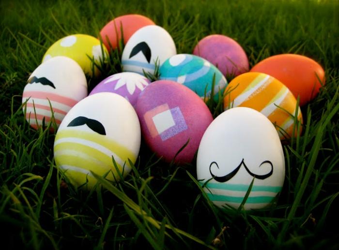 ostereier bemalen aquarellfarben hipster eier selbermgestalten