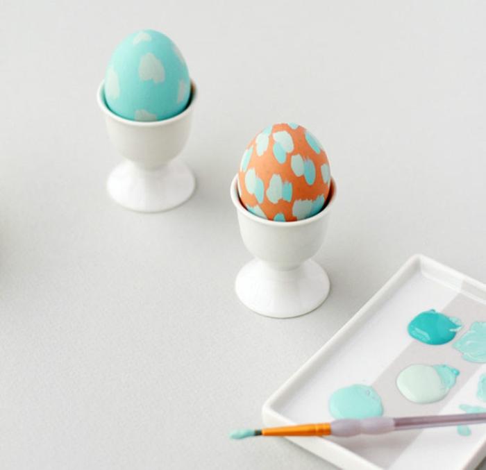 ostereier bemalen aquarellfarben selber dekorieren