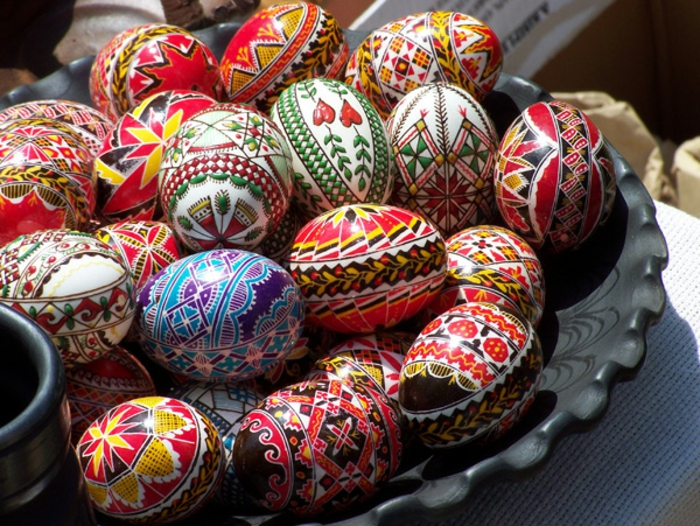 ostereier dekorieren sorbische eier osterdeko traditional