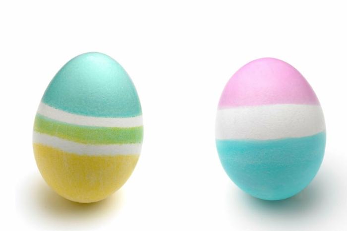 ostereier bemalen dekoideen eier bemalen pastellfarben streifen