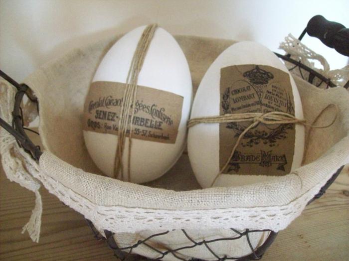 ostereier gestalten vintage osterdeko