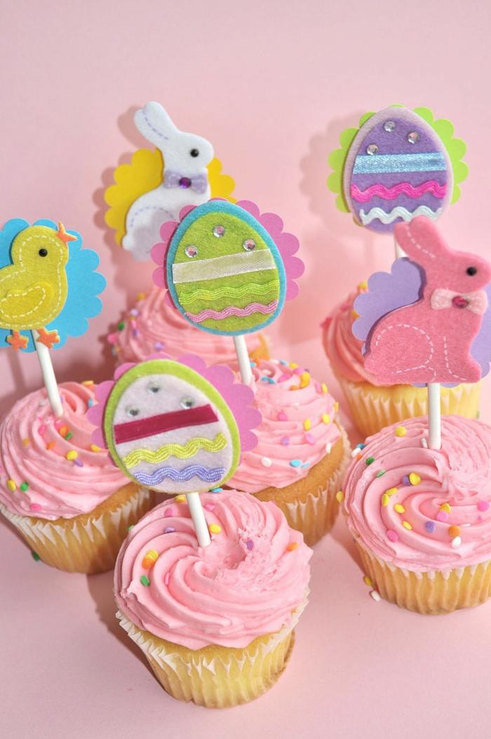 osterkuchen backen muffins ideen farbig ostern