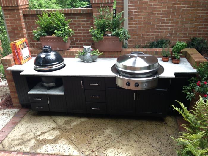 outdoor küche möbel schränke funktional garten pflanzen