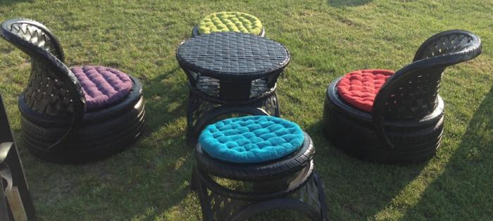 recycling möbel autoreifen außenmöbel gartenauflagen