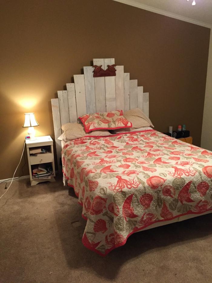 recycling möbel bettkopfteil schlafzimmer ideen