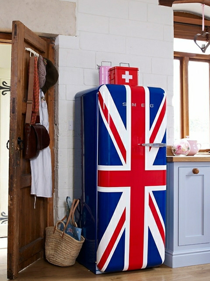 retro kühlschrank brittische flagge unionjack smeg