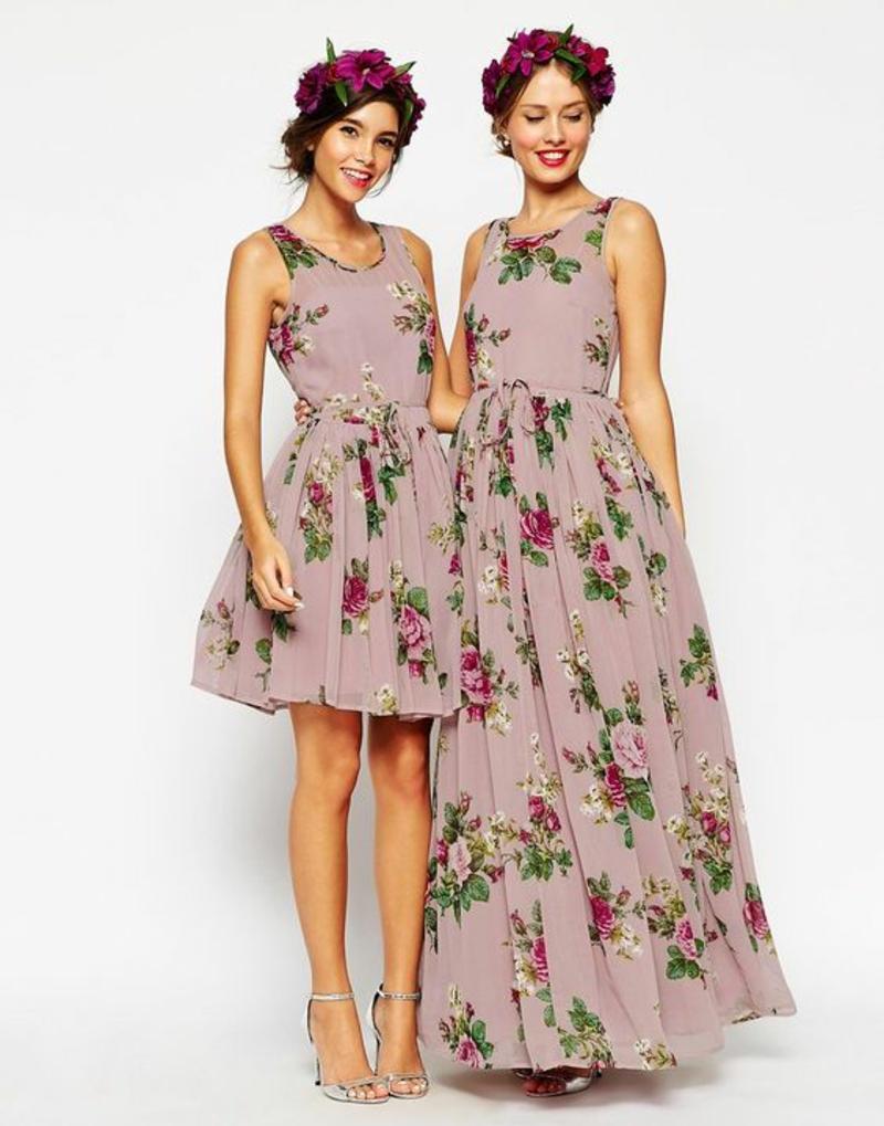 schöne Sommerkleider Blumenkleider kurz und lang Asos Sommermode
