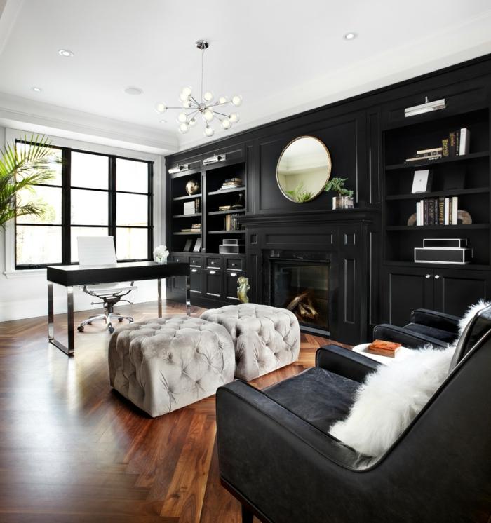 schöne wohnideen elegantes home office hocker