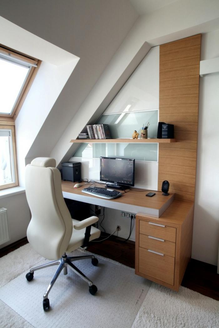 schöne wohnideen home office stauraum ideen