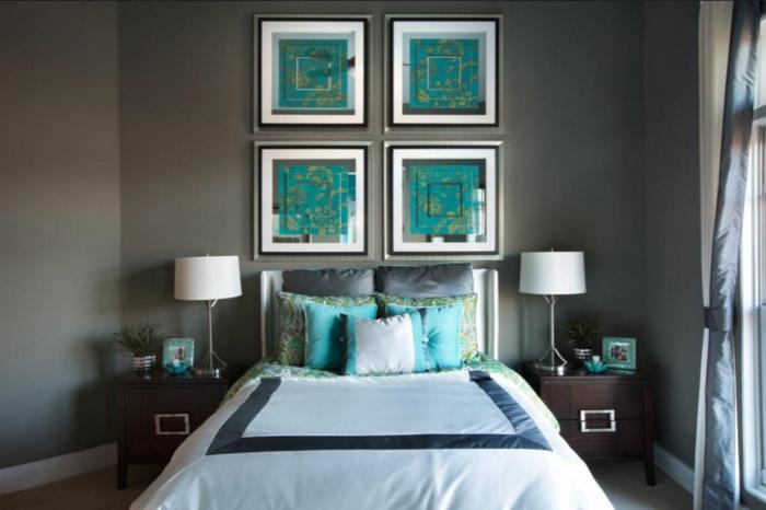 schlafzimmer einrichten einrichtungsbeispiele wohnideen aquamarine