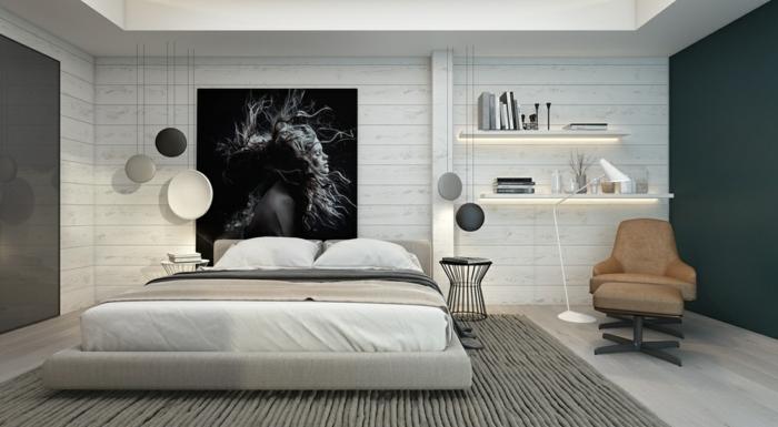Einrichtungsbeispiele für mehr Glamour beim Schlafzimmer einrichten