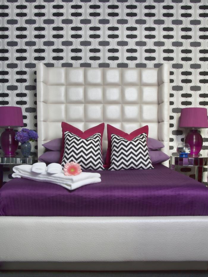 wohnideen schlafzimmer lila ? modernise.info - Farbgestaltung Fur Schlafzimmer Das Geheimnisvolle Lila