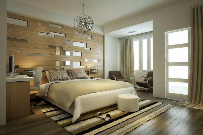schlafzimmer einrichten einrichtungsbeispiele wohnideen kopfteil spiegel