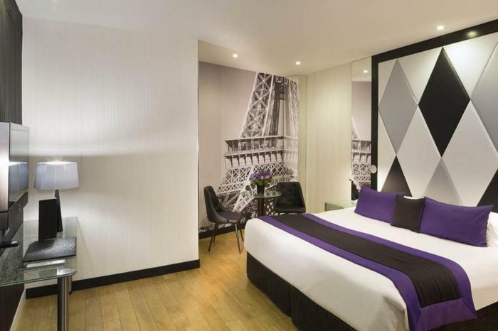 schlafzimmer einrichten einrichtungsbeispiele wohnideen romantisches schlafzimmer lila
