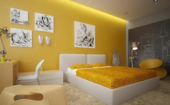 einrichtungsbeispiele wohnideen tepetenidee gelb