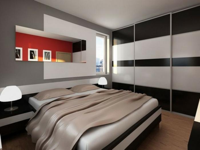 schlafzimmer einrichten einrichtungsbeispiele wohnideen tepetenidee mit nische