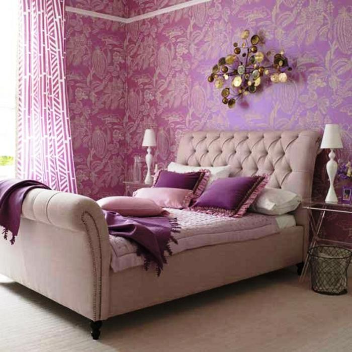 schlafzimmer einrichten einrichtungsbeispiele wohnideen tepetenidee rosa