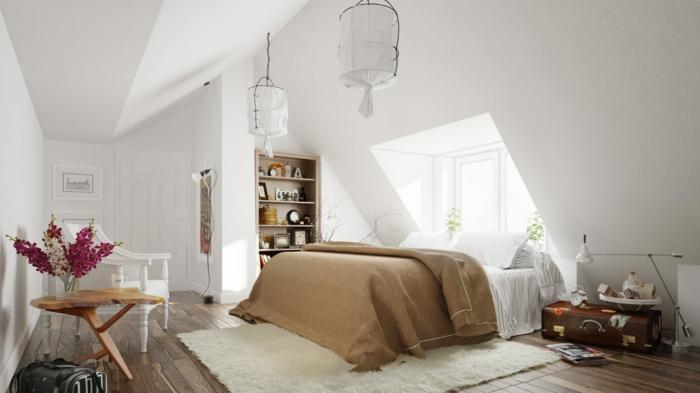 schlafzimmer einrichten einrichtungsbeispiele wohnideen tepetenidee schräge