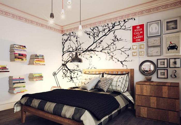schlafzimmer einrichten einrichtungsbeispiele wohnideen tepetenidee vertikaler cool