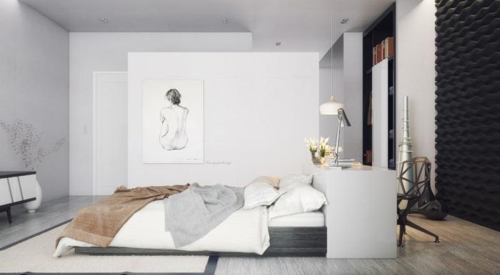 49 einrichtungsbeispiele f r mehr glamour beim schlafzimmer einrichten - Wandmuster fur schlafzimmer ...