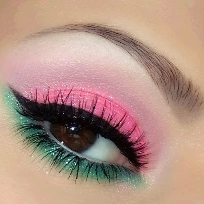 schminktipps augen schminken krasse farben