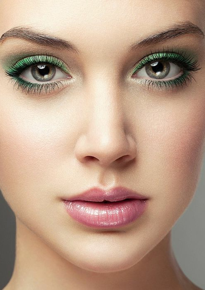 schminktipps augen schminken trends 2016 grüne lidschatten