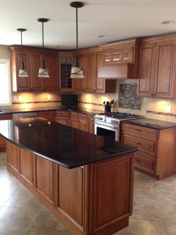 schwarze Granitarbeitsplatte Vorteile Küchengestaltung Ideen Kücheninsel