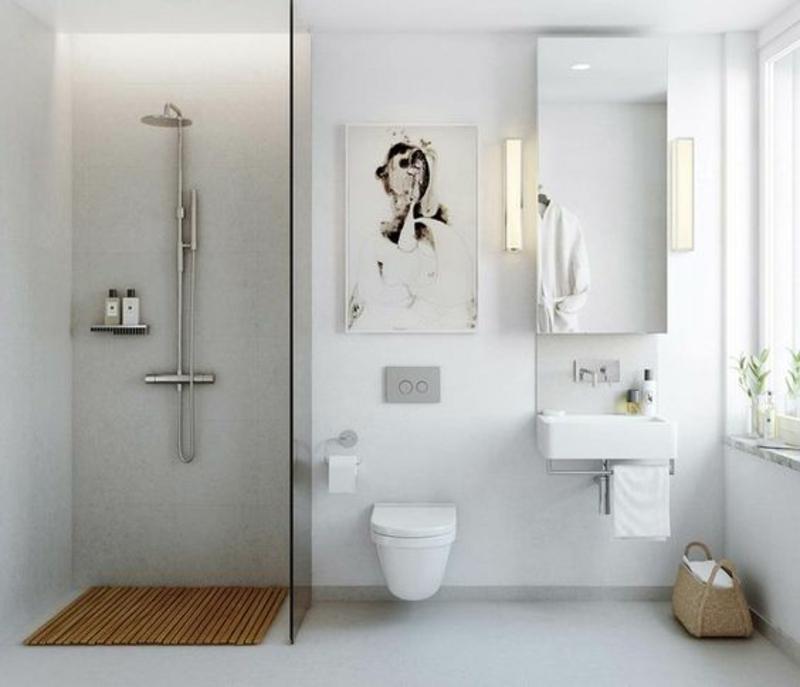 skandinavisch wohnen Einrichtungsbeispiele Badezimmer Badmöbel