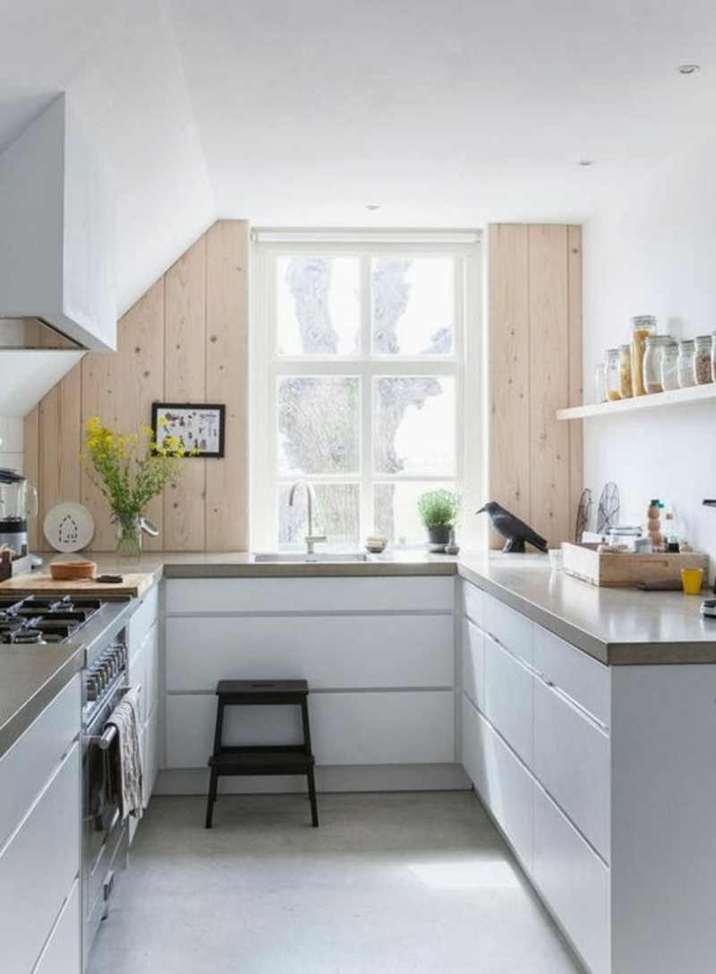 skandinavisch wohnen Einrichtungsbeispiele kleine Küche gestalten