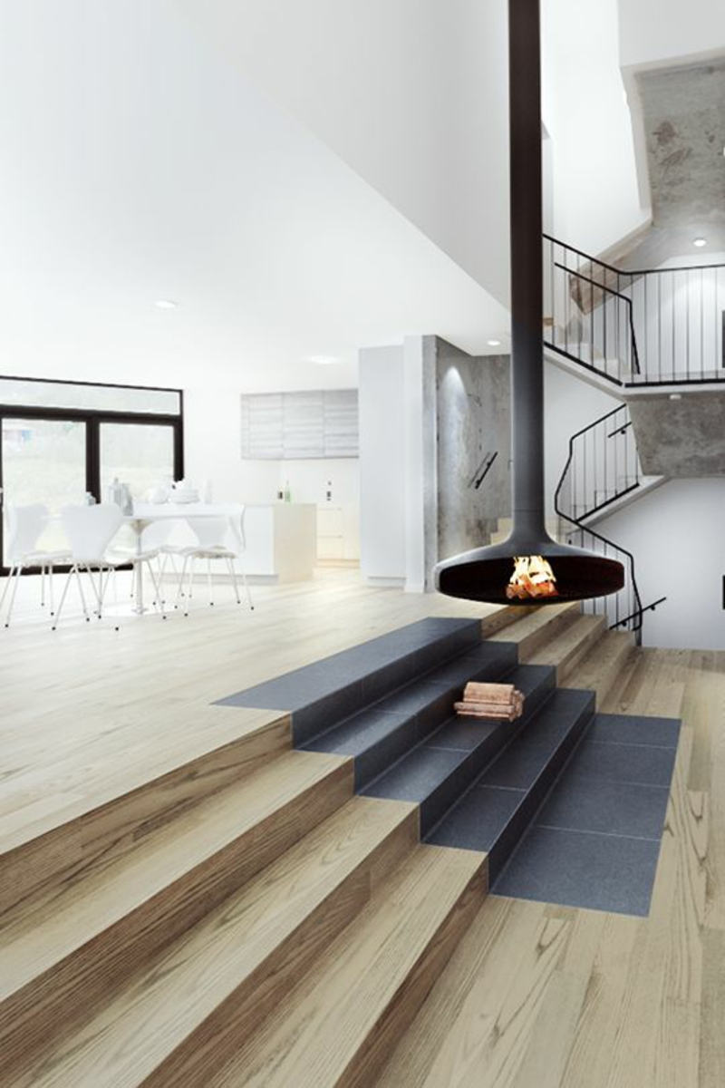 skandinavisch wohnen Wohnzimmer gemütlich einrichten
