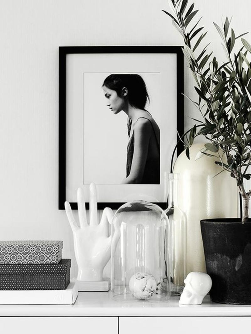 skandinavische Deko Einrichtungsbeispiele schwarz weiß