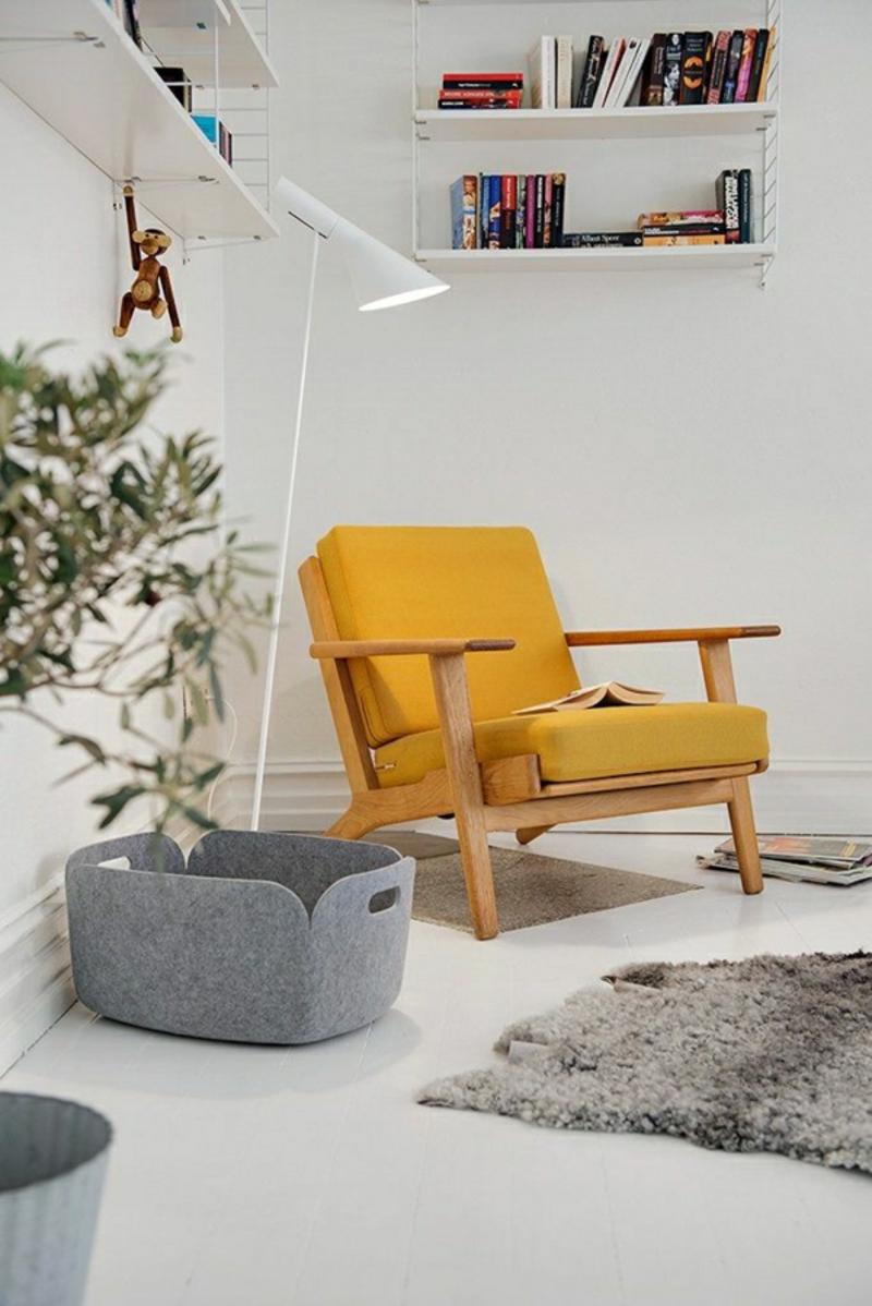 skandinavische möbel online sessel gelb