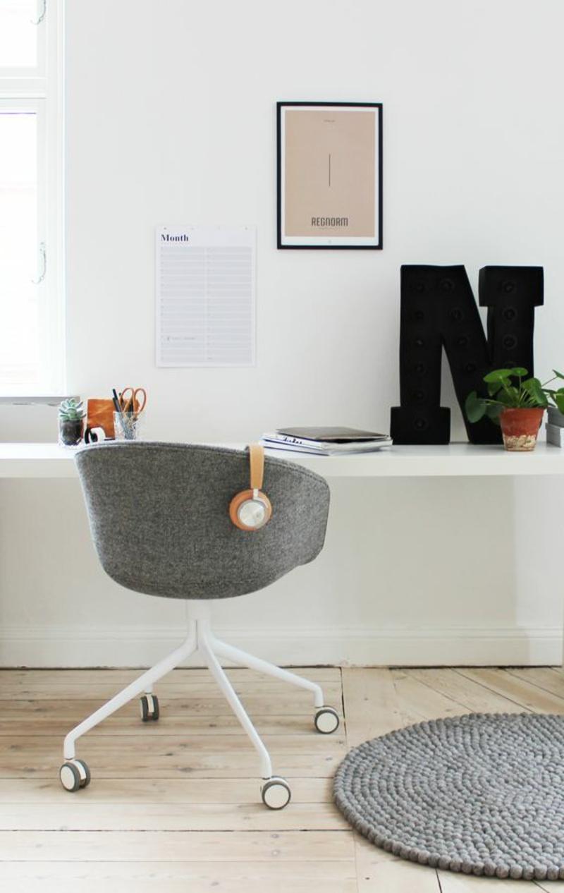 skandinavisches Design Einrichtungsbeispiele Arbeitszimmer Büromöbel