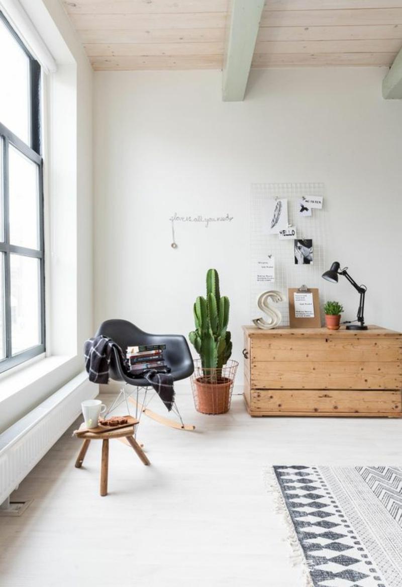 skandinavisches Design Einrichtungsbeispiele Holzmöbel