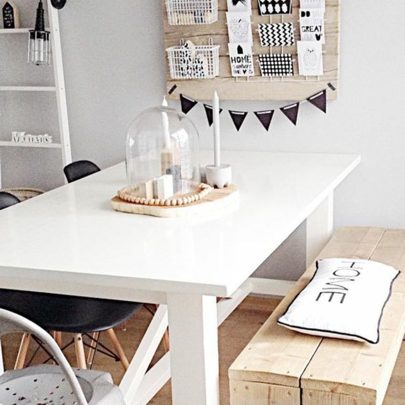 skandinavisches Design Einrichtungsbeispiele Massivholzmöbel Bank