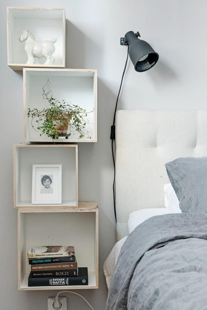 skandinavisches Design Schlafzimmer Möbel Regale Nachttisch